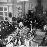 FOTOGRAFI Ivar Kreugers Jordfästning i Norra kapellet på Norra begravningsplatsen.   1932- FOTOGRAF: Okänd. Aftonbladet BILDNUMMER: AB 171 Stadsmuseet i Stockholm