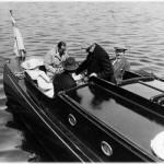 Ivar Kreuger med b,l,a Douglas Fairbanks ombord på Loris 1924